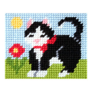Orchidea Cat (halfstitch kit 17x20,5cm) | The Knitting Club