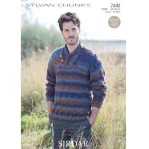 Ανδρικό πουλόβερ, με Sirdar Sylvan Chunky - 7482 | The Knitting Club