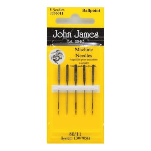 John James Needles - Sewing Machine Needles - Ball Point 80/11 | The Knitting Club